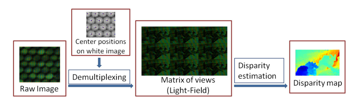 Accurate Disparity Estimation for Plenoptic Images